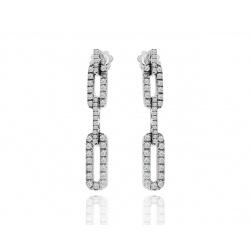 Красивые серьги с бриллиантами Damiani