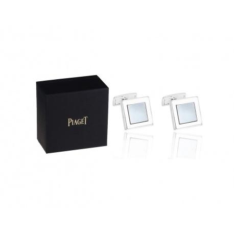 Оригинальные запонки с гематитом Piaget