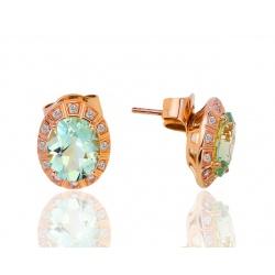 Серьги с празиолитами и бриллиантами H.Stern