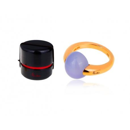 Прелестное кольцо с голубым халцедоном Pomellato