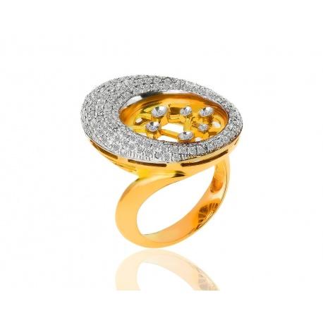 Интересное кольцо с бриллиантами 0.40ct