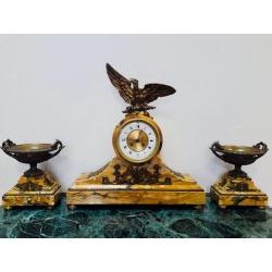 Каминные часы с вазами Ампир