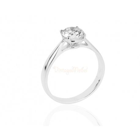 Помолвочное кольцо с бриллиантом 0.63ct