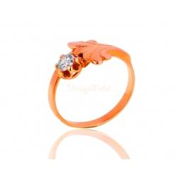 Винтажное кольцо с бриллиантом 0.32ct
