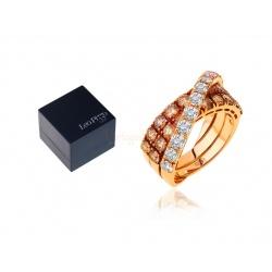 Модное кольцо с бриллиантами 2.65ct Leo Pizzo
