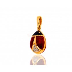 Кулон-шарм с бриллиантами Faberge Egg