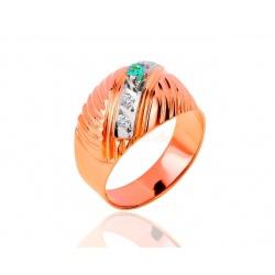 Винтажное кольцо с изумрудами и бриллиантами