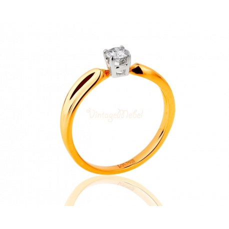 Помолвочное кольцо с бриллиантом 0.25ct