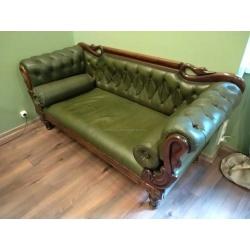 Французский кожаный диван