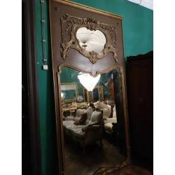 Большое антикварное зеркало