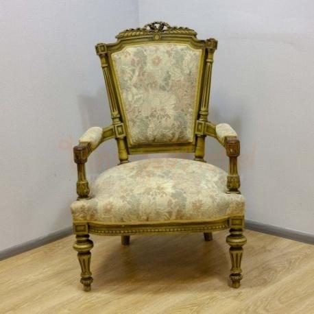 Кресло антикварное в стиле Луи 15