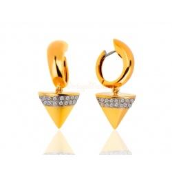 Итальянские золотые серьги с бриллиантами
