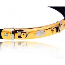 Солидный золотой браслет с каучуком Baraka