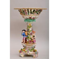 Фруктовая ваза фарфоровая, большая
