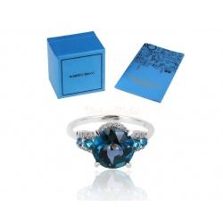 Кольцо с бриллиантами и топазами 3.98ct Roberto Bravo