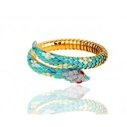 Итальянский браслет с эмалями и бриллиантами