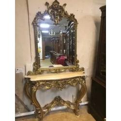 Зеркало с консолью в стиле Барокко