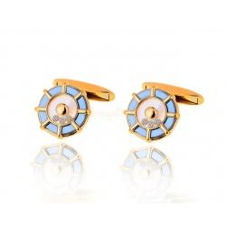 Стильные запонки с бриллиантами Chopard