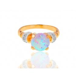 Волшебное кольцо с опалом и бриллиантами
