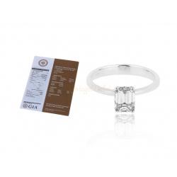Итальянское кольцо с бриллиантом 0.90ct