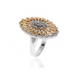 Праздничное кольцо с бриллиантами 1.08ct