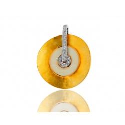 Кулон с эмалью и бриллиантами 0.10ct Roberto Bravo
