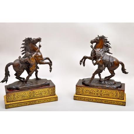 Парные бронзовые статуэтки ( Лот MH 1029 )
