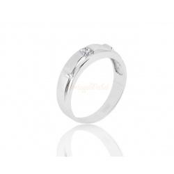 Золотое кольцо с бриллиантом 0.23ct