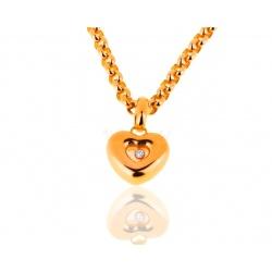 Оригинальный золотой кулон с бриллиантом