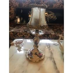 Фарфоровая настольная лампа, винтаж