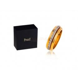 Стильное золотое кольцо с бриллиантами Piaget