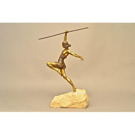 "Бронзовая статуэтка ""Метательница копья"" ( Лот MH 1828 )"