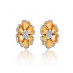 Романтичные серьги с бриллиантами 1.90ct