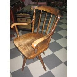 Кресло крутящееся из массива дуба