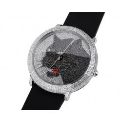 Стальные часы с бриллиантами 4.83ct