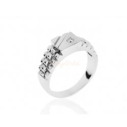 Элегантный мужской перстень с бриллиантом