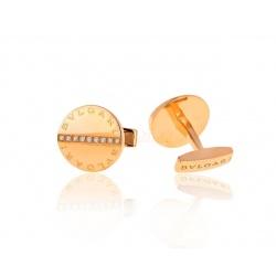 Запонки с бриллиантами Bvlgari