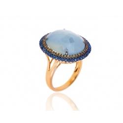 Королевское кольцо с сапфирами