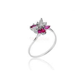 Изящное кольцо с рубинами