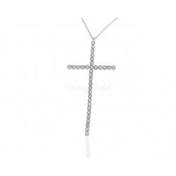 Престижный бриллиантовый крест - кулон