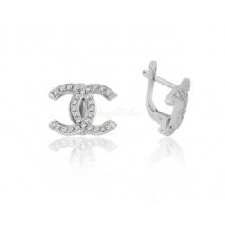 Шикарные серьги с бриллиантами 0.50ct