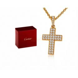 Прекрасный золотой крест с бриллиантами