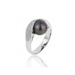 Притягательное кольцо с жемчугом 9.30 мм