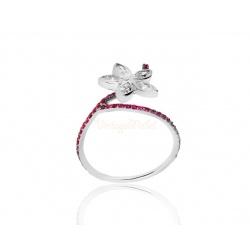 Стильное кольцо с бриллиантами 0.58ct