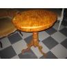 Винтажный стол из волнистой березы