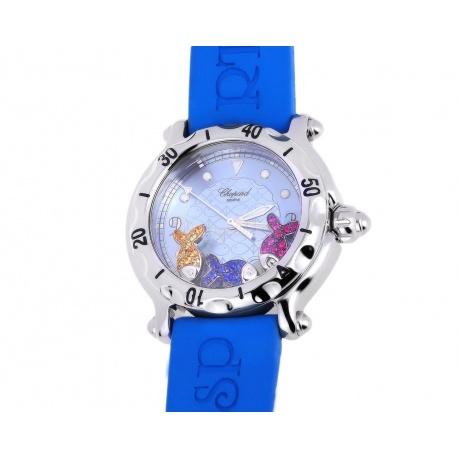 Стальные часы с сапфирами 0.24ct Chopard