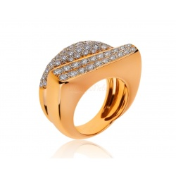 Золотое кольцо с бриллиантами 1.90ct Fred