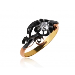 Золотое кольцо с бриллиантами 0.41ct