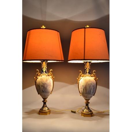 Вазы - Лампы парные ( Лот 2378 )