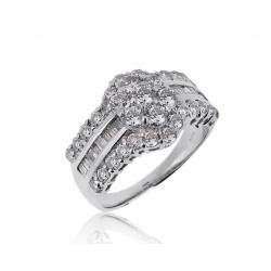 Платиновое кольцо с бриллиантами 2.00ct